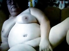 Russian Granny on webcam! Amateur!