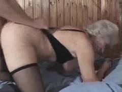 Granny Luvs Cum And Doggy Style Fucking