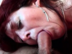 She Guides Hard-on Into Her Hairy Cunt
