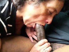 Pink cigar - crazed granny giving head to her amore