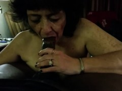Pecker - crazed  blowing a dark-hued shaft