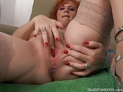 Killer old spunker is a squirter when she
