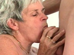 Grandmother Gets Ready For A Stud