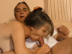 XxxOmas - Mature German granny gets to taste some jizz