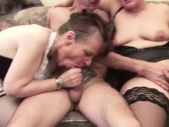 German Grandmother in Porn Casting with Stranger Grandpa