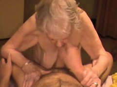 Cumshot on grandma saggy tits with  Verdell from dates25com