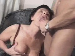Granny Gets A  Of Jizz