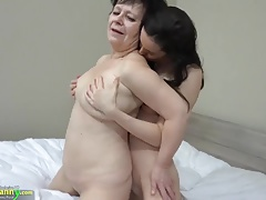 OLDNANNY Hot girl with  fucks big fat granny