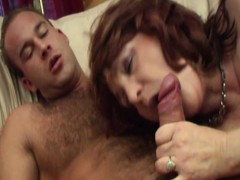 Busty Super-hot Mama Pussy Stuffed With Young Cock