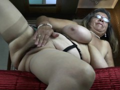Classy grannie with large tities and  Rossie from 1fuckdatecom