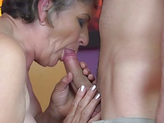 Granny gets youthfull cock in  old cunt