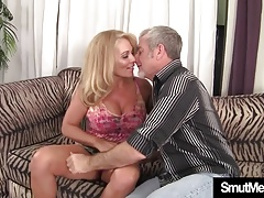 Sexy Blond Granny boned good
