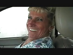 Granny Gives BJ In Car Wash