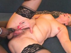 Lusty mature black ravaged and creampied