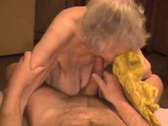 Cumshot on grannie saggy tities wit Angele from 1fuckdatecom
