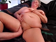 Gorgeous BBW tanny German grannie with huge tender tits