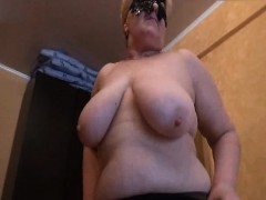 Russian inexperienced older wife undressing