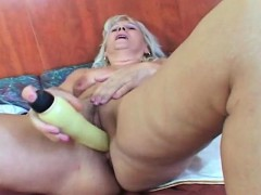 Blonde mature  and toy fucking herself