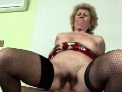 Hard sex makes horny blonde granny perceive youthfull again