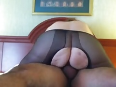 . Sue torn panty hose pipe nail
