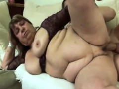 Red-hot granny getting fucked  by younger guy