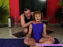 Cute gilf banged after playing with toys