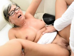 Spex granny fucked and jizzed on