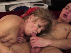 Senior dame masseuse penetrated
