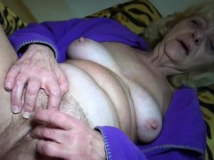 Platinum-blonde Granny Enjoys Sex In Any Form