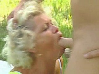 Granny facefucked gone away from