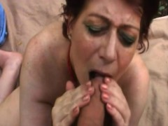 Chubby Granny Tamara Sucking Long Cock In Forest