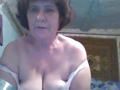 Molten 54 yo Russian mature Vera have fun on skype