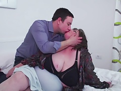 Big mature mother  son-in-law s man juice after fuckfest