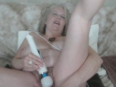 Hairy czech granny toys her cunt