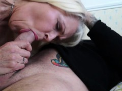 Ash-blonde  gets fucked by the TV repairman