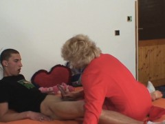 She finds her old mom riding husband's fuck-stick