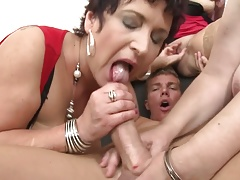 Taboo group  with mature moms and granny