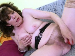 OldNannY Unshaved Grandma Pussy Playing Masturbation