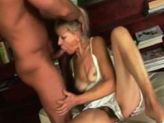Blond Grannie Inci Gives Head And Rides Schlong