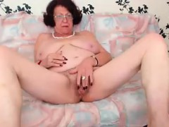 Redhead Grandma Enjoying Herself on WebCam