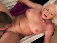 Anett getting her  Vintage pussy bashed by Joshua