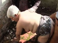 He  his wife Murielle in an outdoor gang-bang