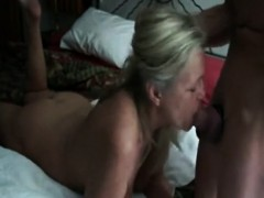 Milf deep-throats cock of  man