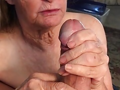 Grandma can't get enough cum