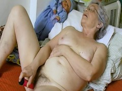 OmaHoteL Hairy Granny Labia Filled With Adult Toy