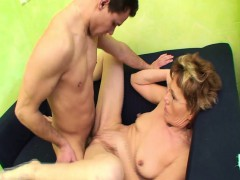 Slim  Gets Old Pussy Fucks Young Cock