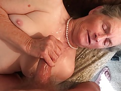 Grandma loves her pearl necklace