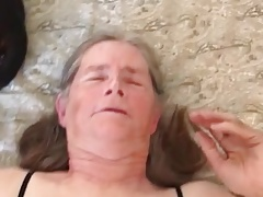 Grandma takes it in the ass