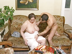 German Plus-size Granny Loves Young Dick