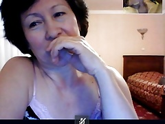 GRANNY from Kazahstan watch me how I  on skype